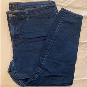 F21+ size 20 skinny Jeans